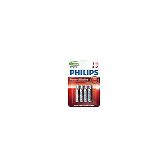 Philips Powerlife alkalisk LR03 AAA batteri 4stk