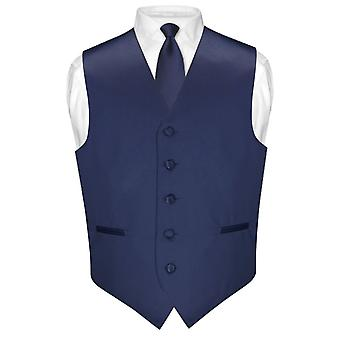 """Mäns klänning Vest & smal slips enfärgad 2,5 """"hals slips Set för kostym eller smoking"""