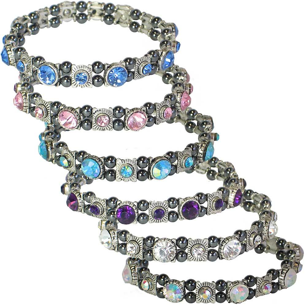 MPS® FELICIAN Beautiful Hematite Crystal Magnetic Bracelet for Women - Stretching Band
