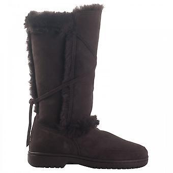 Canterbury pelle di pecora pelliccia cravatta dettaglio lungo Boot