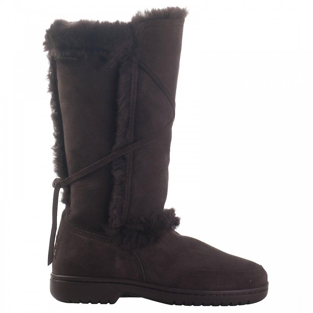 Canterbury Sheepskin Fur Tie Detail Long Boot UZNPi