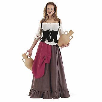 Emäntä Lady puku piika tarjoilijan sutler hyvät puku