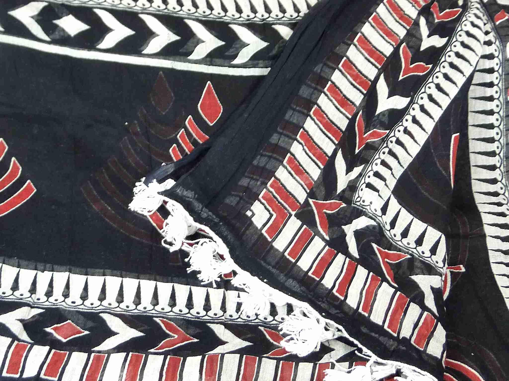 Dupatta Kandolim Sarong Scarf Ruby by Pashmina & Silk