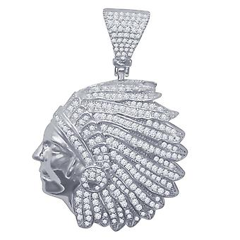 925 argent sterling micro pave pendentifs - Indiens
