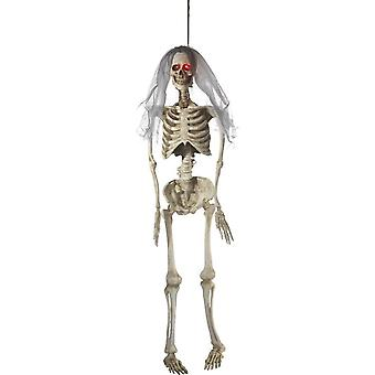 Light Up Latex Hanging Bride Skeleton Decoration, Natural, Battery Operated, 170cm / 67inch