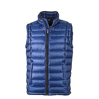 James and Nicholson Mens matelassé Down Vest