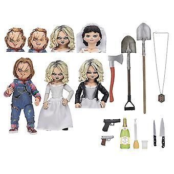 Chucky 7- Actionfigurenset Ultimate Chucky & Tiffany Material: Kunststoff, Hersteller: NECA
