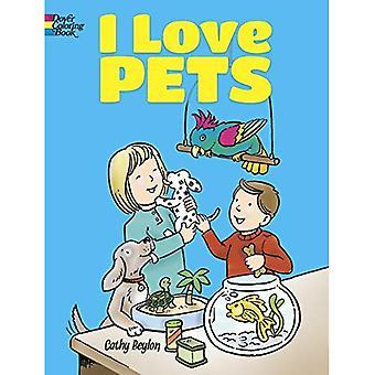 Jag älskar husdjur målarbok (Dover målarböcker för barn)
