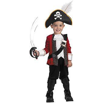 Pirat kaptajn barn kostume
