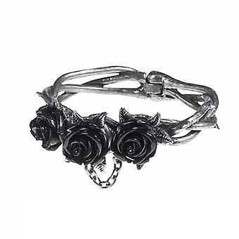 Alchemy Wild Black Rose Pewter Bracelet