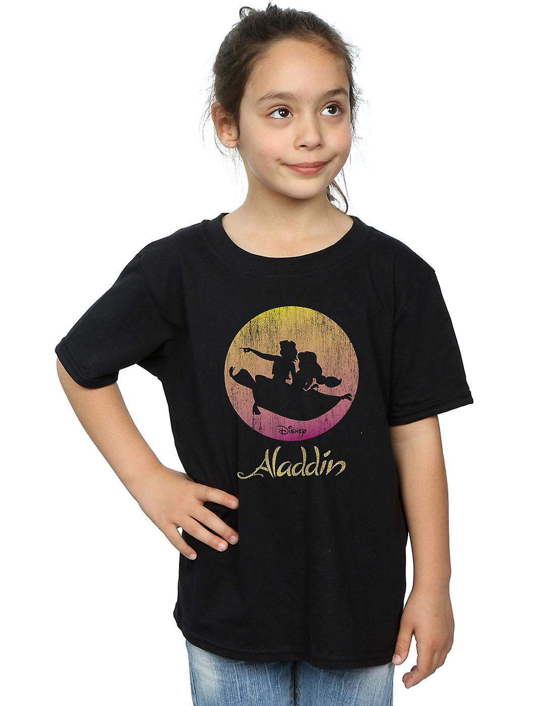 Disney Girls Aladdin Flying Sunset T-Shirt