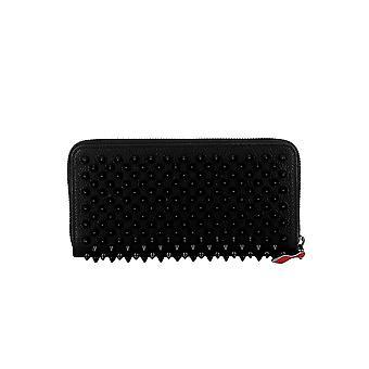 Christian Louboutin 1185059cm53 Women's Black Leather Wallet