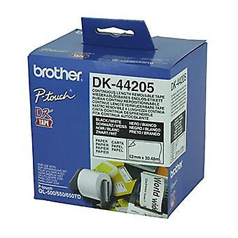 Brother DK44205 30,48 meter hvid roll