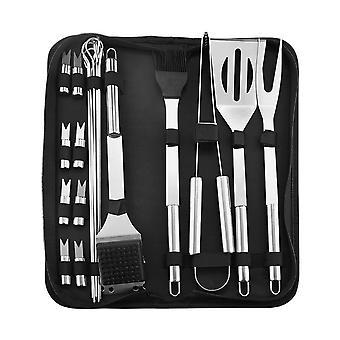 20-Teile Edelstahl BBQ Grill Werkzeug Set mit Tasche