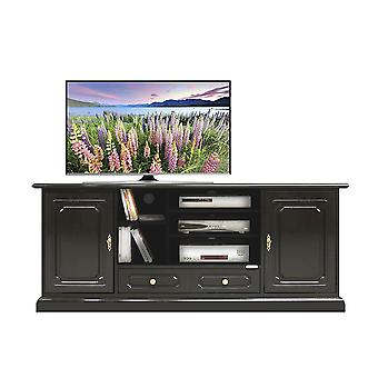 Black lacquered Hi-fi Tv cabinet