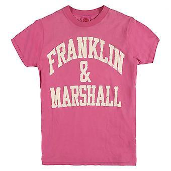 Franklin & Marshall Vintage painettu logo T-paita