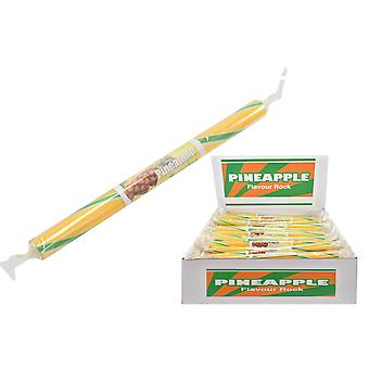 Pakke med 20 medium aromatiseret rock sticks-ananas