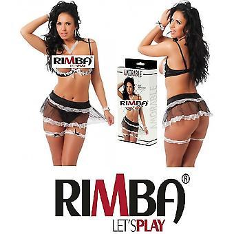 Amorable' door Rimba Lingerie 6 stuk Frilly slaapkamer Outfit (R1841)