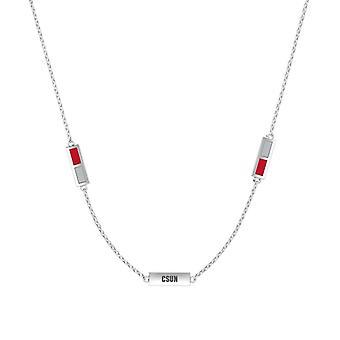 California State U Northridge Pendant Necklace In Sterling Silver Design by BIXLER