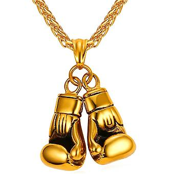 U7 Boxe Necklace-Or