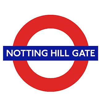 Tfl™5106 licensed notting hill gate roundel™ vinyl sticker