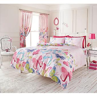 Fashion Butterfly Modern Duvet Cover Floral Bedding Set Single Double King Super King