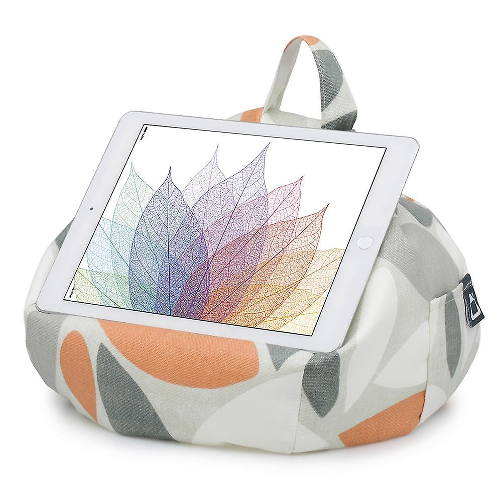 IPad, tablet & ereader bean bag stand-by ibeani - ovaal oranje & grijs