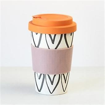 Caroline Gardner Heart Outline Bamboo Travel Mug | Gifts From Handpicked