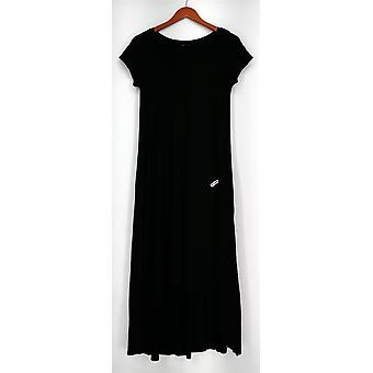 H by Halston Dress XXS Scoop Neck Hi-Low Hem Knit Black New A28406