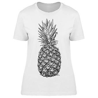 Pineapple   Realistic Sketch Tee Women's -Image by Shutterstock