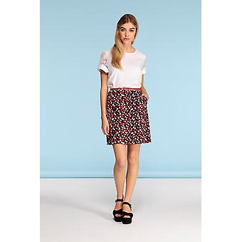 Louche Alves Skirt Red/Black