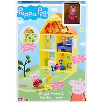 Greta Gris/Peppa Pig, house and Garden playset