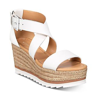 Marc Fisher Womens Zendra Leather Open Toe Special Occasion Platform Sandals