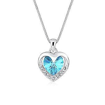Sterling 925 srebrny elli z kryształkami Swarovskiego w kształcie serca - 45 cm długości - 0112830815