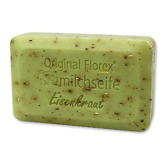 Savon de lait de brebis Florex - herbe de fer - parfum citronné frais fort revigore les sens avec des herbes 200 g
