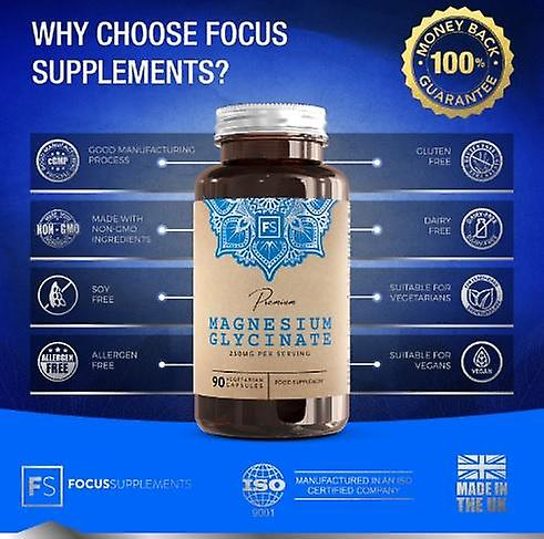 Focus Supplements Magnesium Glycinate (250mg) Capsules