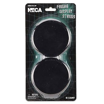 Action Figure Display Stands Pack of 10 (Black)