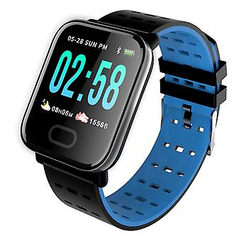 A6 activity wristband for Android and iOS, blue