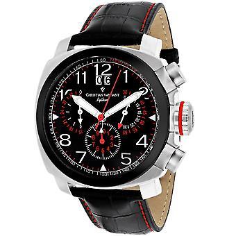 Christian Van Sant Men's Grand Python Black Dial Watch - CV3AU1