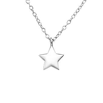 Star - 925 Sterling Silver Plain Necklaces - W20023x
