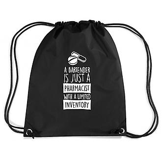 Black backpack wes0151 a bartender is just a pharmacist with limited inventory