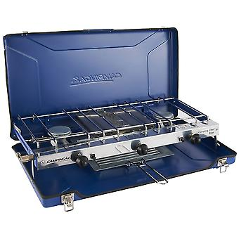 Campingaz Chef Folding Double Burner and Grill Blue