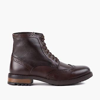 Alfie brown leather brogue boot