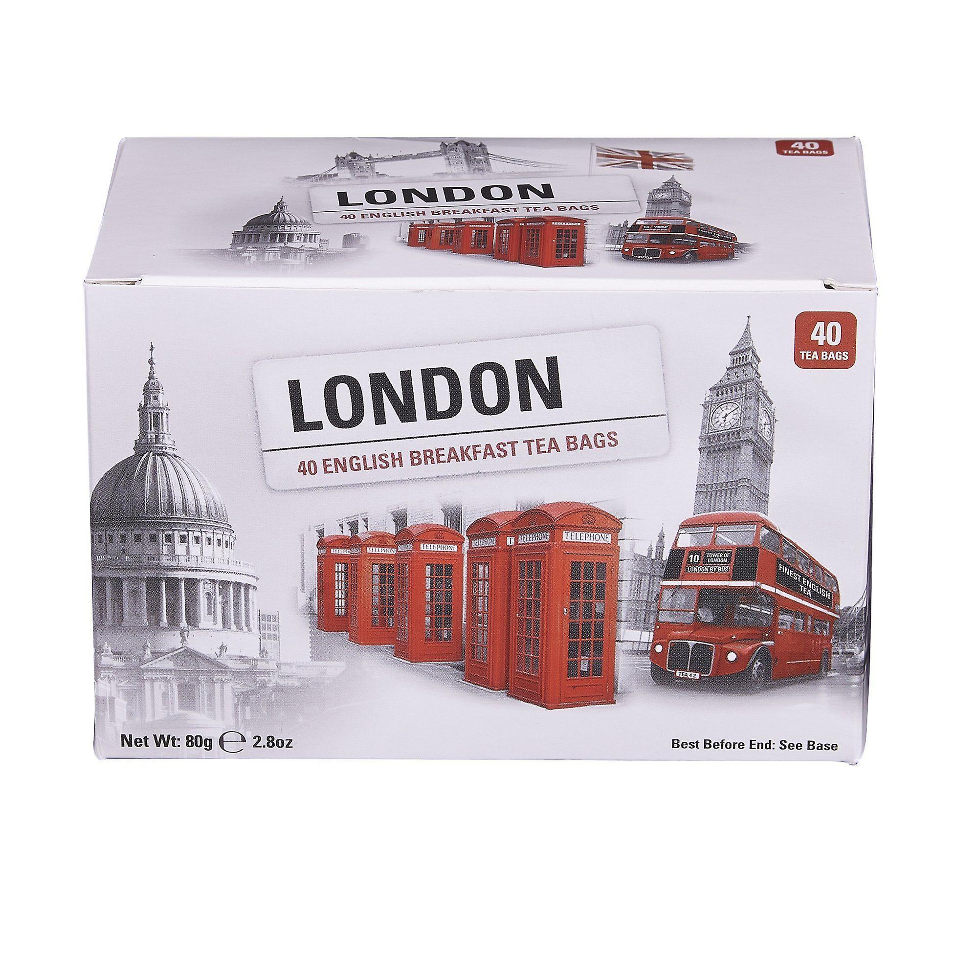 London selection english breakfast tea 40 teabag carton