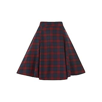 Collectif Vintage Women's Flared Tammy 50s Car Print Skirt