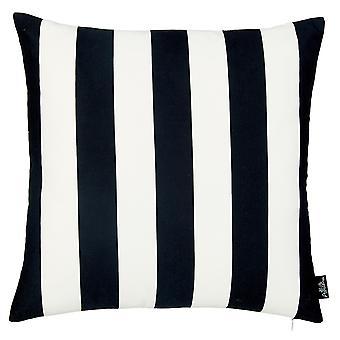 Black and White Cabana Stripe Geometric Decorative Throw Pillow Cover