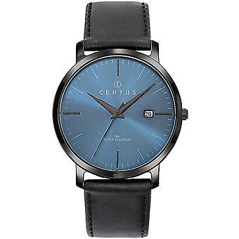 Certus 611053 relógio - relógio homem de couro preto