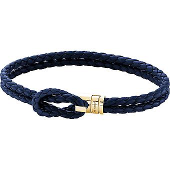 Bracelet Zeades spar Ipy - Bracelet steel gold yellow leather man Abyss Abyss