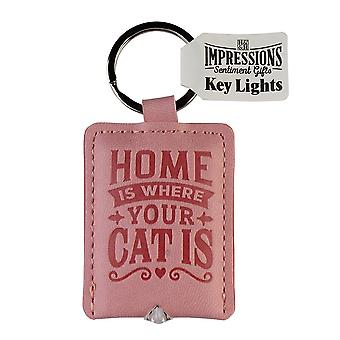 History & Heraldry Keyring - Cat Key Light