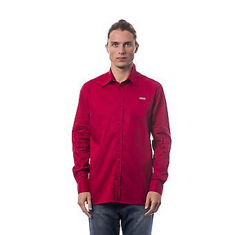 Miesten punainen roberto cavalli pitkähihaiset paidat